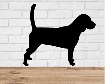 Beagle Dog Wall Decal Stickers  - 1 to 19 inches high Bedroom Nursery Wall Large Wall Art