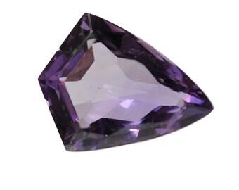 5.40ct 100% Natural Purple Amethyst Uneven Fancy Cut Gemstone 12*15mm Jewelry