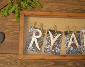 Rustic Nursery Wall Art -  Deer Antler Letter Art  - 4x6 Individual Letter Photos - Hunting Photography - Hunting Baby Nursery Decor
