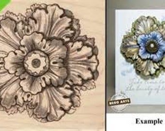 "Hero Arts ""Etched Medallion"" - Rubber stamps - Flower stamps"