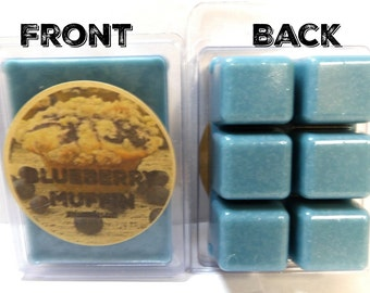Blueberry Muffin - 3.2oz Pack of Soy Wax Tarts, (6 Cubes Per Pack), Soy wax scent cubes Perfect for all wax burners