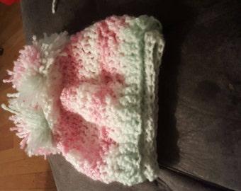 Pompom baby hat