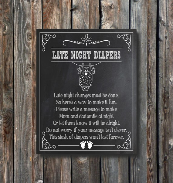 Satisfactory image pertaining to late night diaper sign free printable