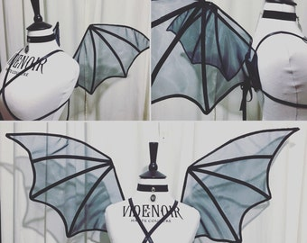 Trasparent halloween bat wings