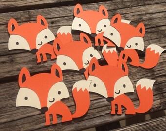 Woodland Fox Die Cuts - Fox Party, Woodland Party, DIY, Crafts