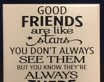 Good Friends are like Stars you dont always see them but you know they are there
