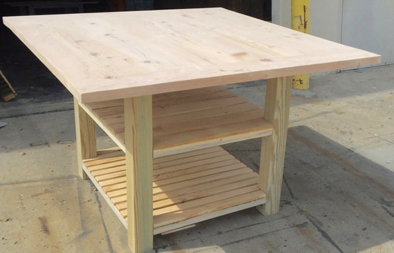 Diy Kitchen Island Table With Seating And Storage