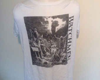 The Watchmen vintage T-Shirt with with image by Gustave Dore of Dantes Inferno.