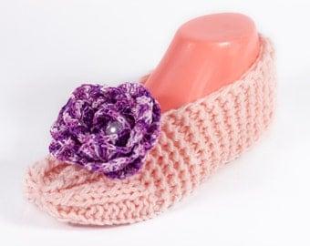 Crochet slippers, Flower slippers, Crochet slippers for women, Slippers by LoveKnittings