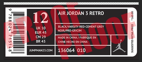 Vinyl Decals and Label for Giant Nike AIR JORDAN or ADIDAS