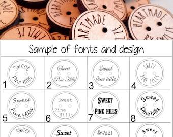 Custom button, design,  personalized, wood button, engraved button, button, knitting button, craft button,