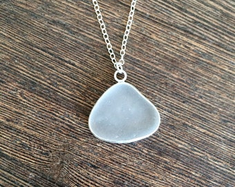 Sea glass pendant, Cornish seaglass, sea glass jewellery, sea glass jewelry, handmade silver unique seaglass jewellery, beach glass, English