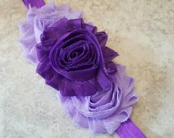 Purple and Lavender Headband - Purple Cake Smash - Infant Headband - Lavender Headband - Easter Headband - Purple Headband - Baby Headbands