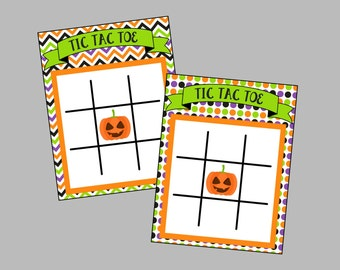 Tic Tac Toe Halloween Game. Instant Digital Download. For for Halloween Party or Trick or Treating. Great Alternative to Candy