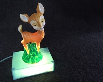 Vintage Disney Bambi Hankscraft night light