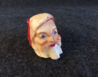 Vintage hard wax Santa candy holder