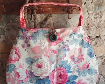Roses bag Sanderson vintage fabric