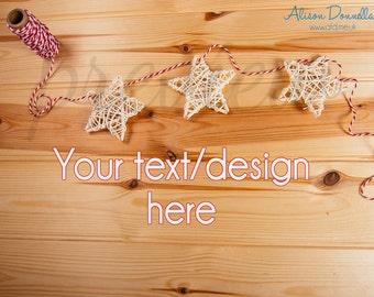 Flat Lay Mock Up / Style Flat Lay Photo / Flat Lay Background / Product Photography / Styled Stock Photo Craft Flat Lay / Christmas Flat Lay