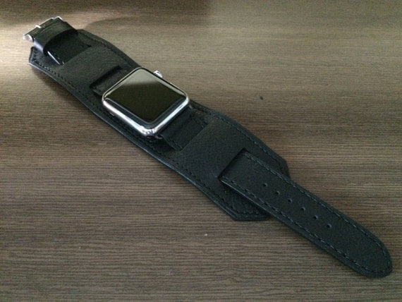 Apple Watch Band | Apple Watch Strap | Vintage Leather Cuff Watch Band | Vintage Leather Cuff Watch Strap For Apple Watch 42mm