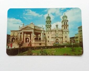 Vintage mexican postcard Cathedral San Luis Potosi