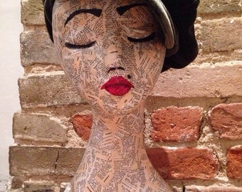 Mannequin head // Art Head // jewellery and hat stand //Wig Stand