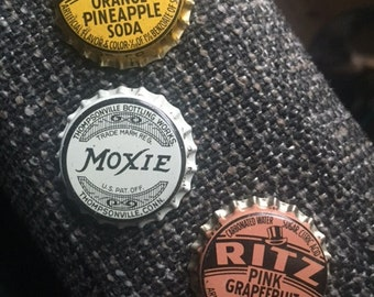 Vintage Soda Pop Bottle Caps From The 1930s/40s - Ritz & Moxie - Old, Unused, Cork Bottlecaps