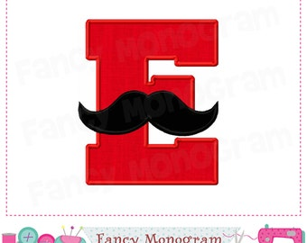 Mustache Monogram E applique,Mustache letter E applique,Birthday Letter E design,E,Mustacher Design,E,Mustacher applique,E,Font E design.