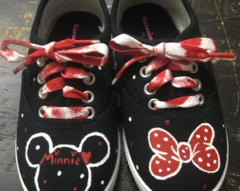 Minnie Mouse polka dot custom shoes