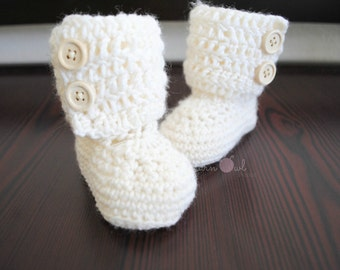 Crochet Toddler Ankle Boots
