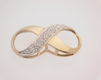 0.25 Carat Total Weight Diamond Infinity Design Pendant 10K