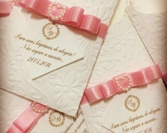 Tears of joy Tissue Packs - -Wedding Tissues - Happy Tears Packs - Emboss- Monogram Collection -Set of 10 pieces