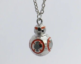 BB8 pendant necklace with crystals