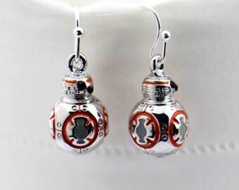 SALE!!!!! bb8 earrings - dangle earrings - robot earrings