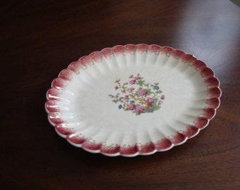 Sebring China Golden Ware Indian Tree Art Deco Small Platter!