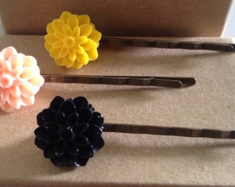 Colorful Flower Hair Pins/Bobby Pins