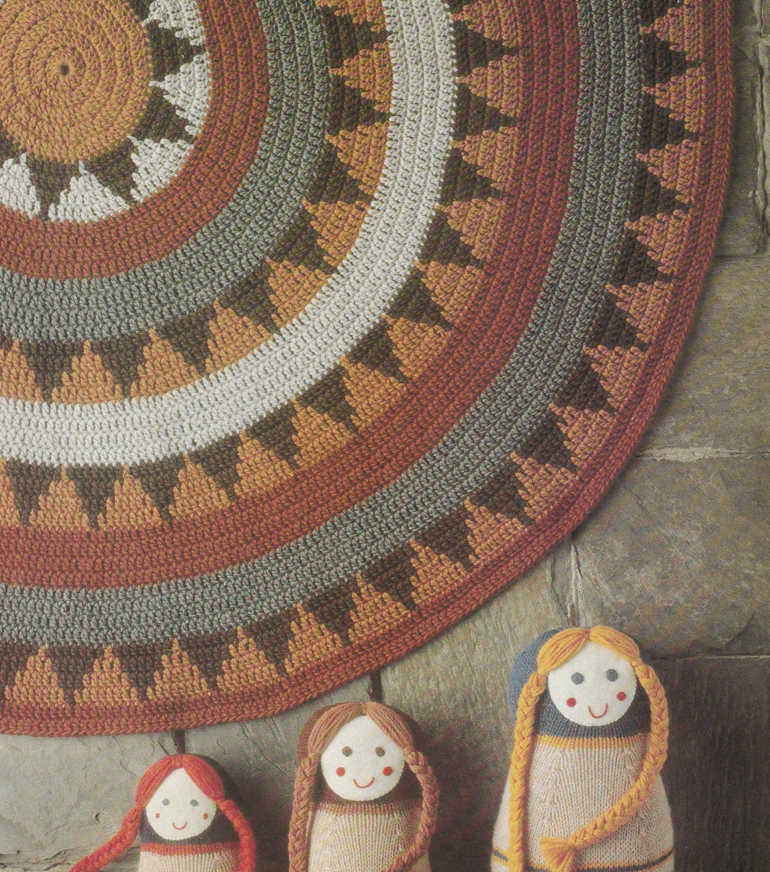 Crochet Floor Rug Pattern Crochet Pattern Crochet Floor Rug