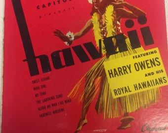"""Harry Owens and his Royal Hawaiians   2-Record Set 45 rpm """"Hawaii"""""""
