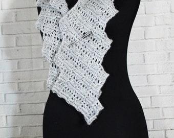 Wool  Crochet  Zigzag Lace scarf winter (woomen) men's scarf