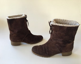 Hush Puppies Sherpa lined Suede Boots size 9.5