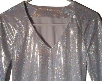 Vintage Iridescent Holographic Prism Shirt