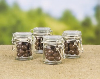 "Wedding Glass Jars Flip Lid 1-3/4"" x 3"" party favor-Wedding Decoration, party decorations Blank or add personalization"