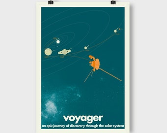 Voyager Space Probes A2 Souvenir Poster - Turquoise