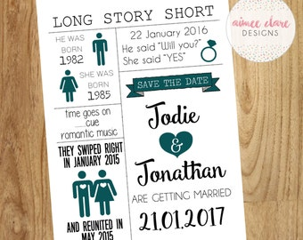 Love Story Wedding Save The Dates
