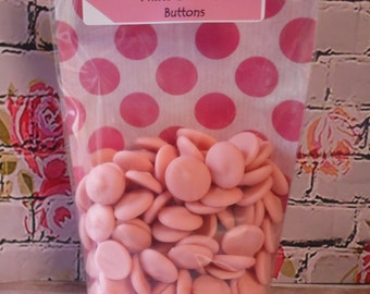 150gr Strawberry Flavoured & Coloured Chocolate Buttons = Personalised Gift Pack