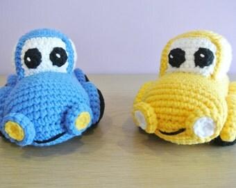 Happy Crochet Car Amigurumi  - Handmade Crochet Amigurumi Toy Doll - Car Crochet - Amigurumi Car