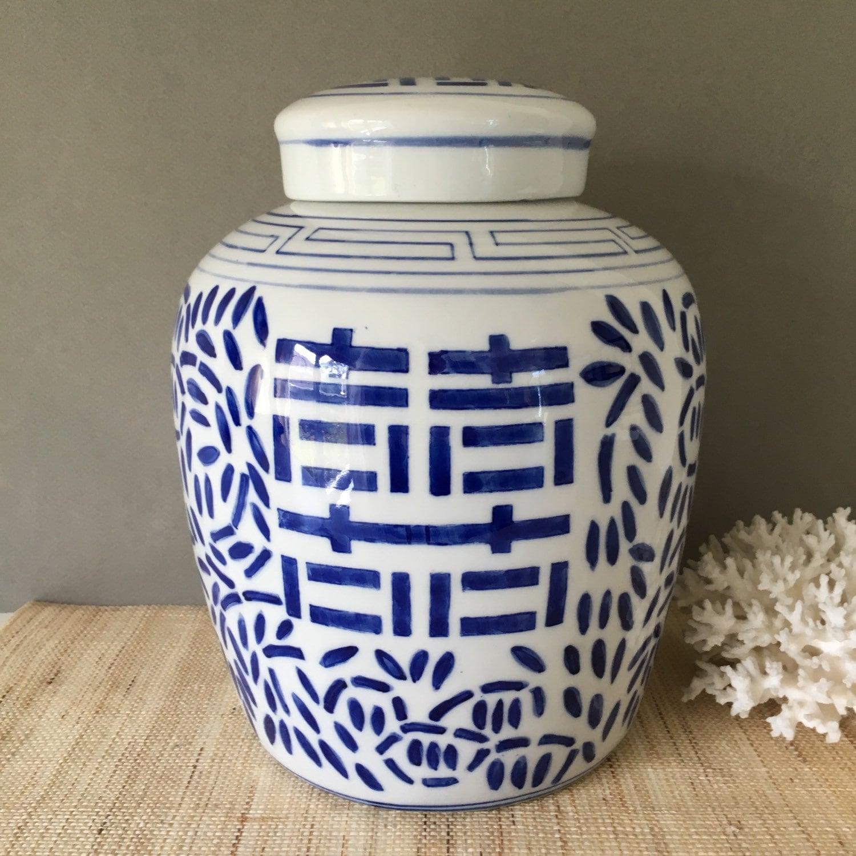 blue and white ginger jar vintage chinoiserie vintage. Black Bedroom Furniture Sets. Home Design Ideas