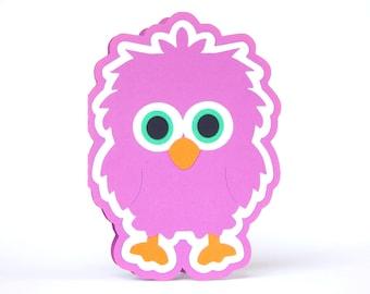 Birdie Card, Greeting Card, Blank Card, Handmade Card, Cute Card, Birthday Card, Baby Card, Get Well Card, Thankyou Card, Purple, So Sweet!