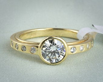 Balance : Lab Grown Diamond Engagement Ring in 14k Recycled Yellow Gold, 1.13ct Total Weight