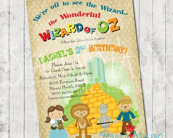 The Wizard of Oz Birthday Invitation