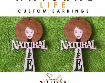 NATURAL LIFE wood earrings
